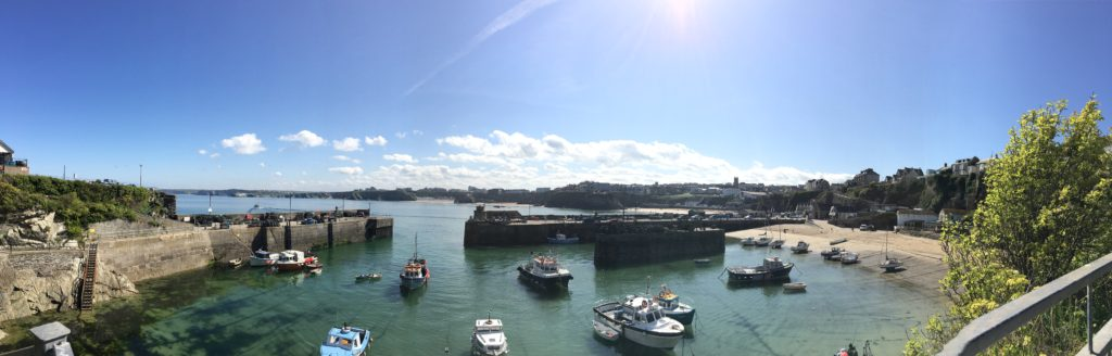 Newquay's picturesque harbour basks in the sun at the heart of the iconic Cornish town
