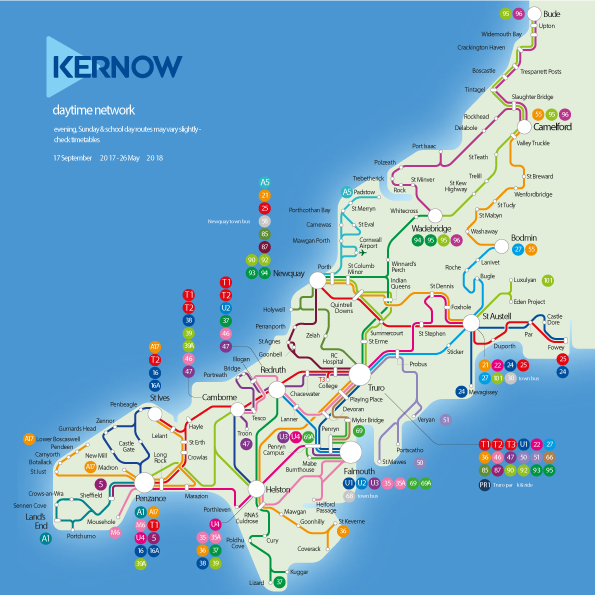 First Kernow bus routes for Cornwall