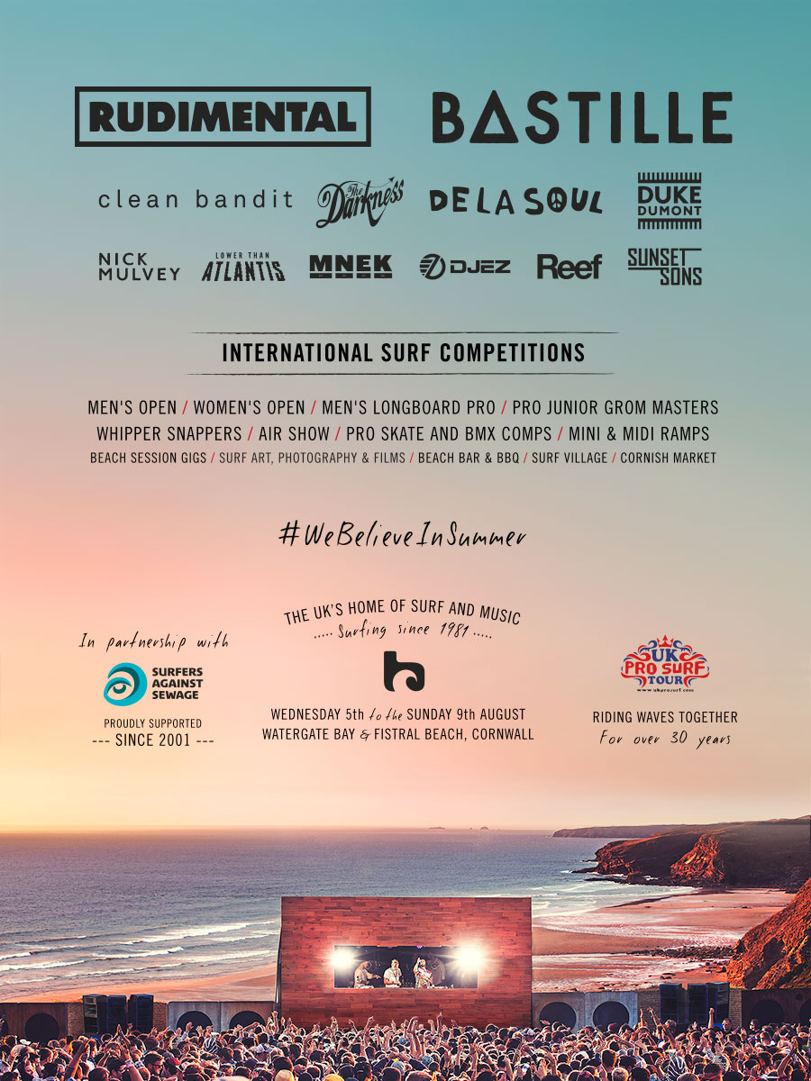Boardmasters Announce Line Up For 2015 Music Festival