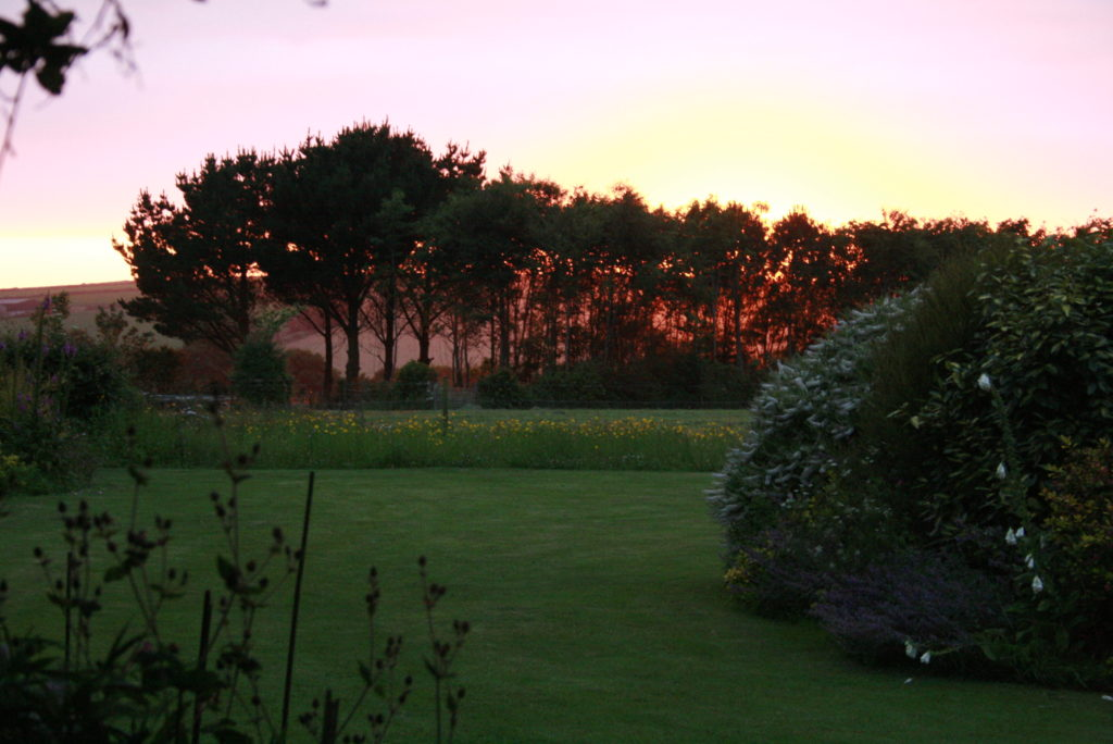 Sky colours create magic at 2 Trenance Cottages