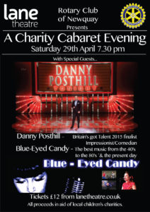 Rotary Charity Cabaret Evening Newquay - 29th April 2017 - Danny Posthill