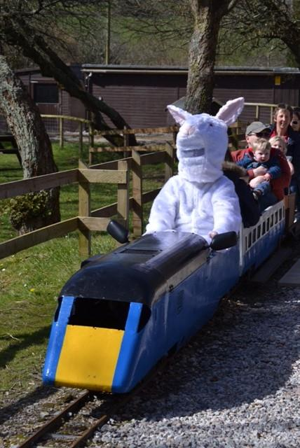 easter eggspress at Lappa Valley nr Newquay