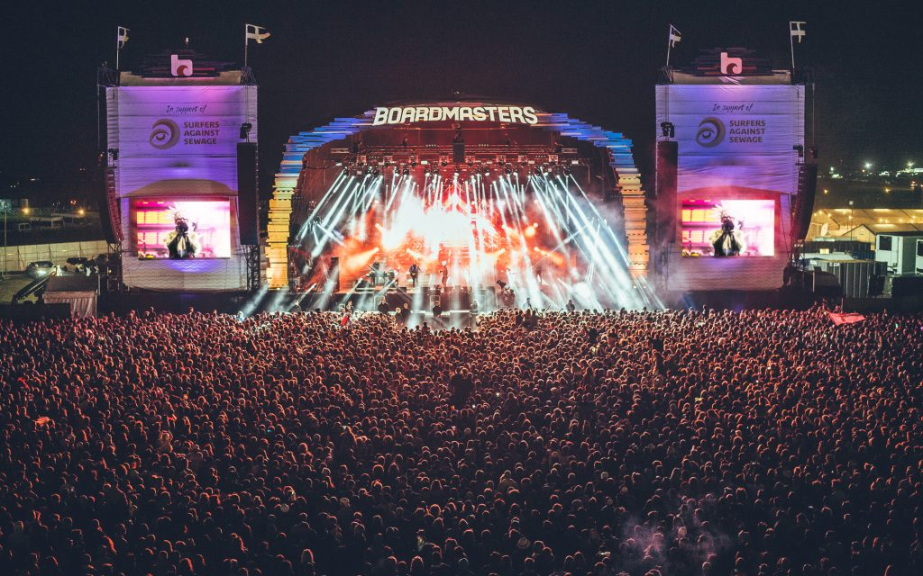 Boardmasters 2018 at Watergate Bay near Newquay