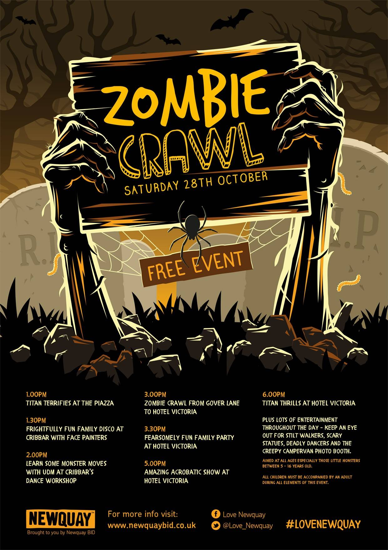 zombie crawl Newquay - 28th October 2017