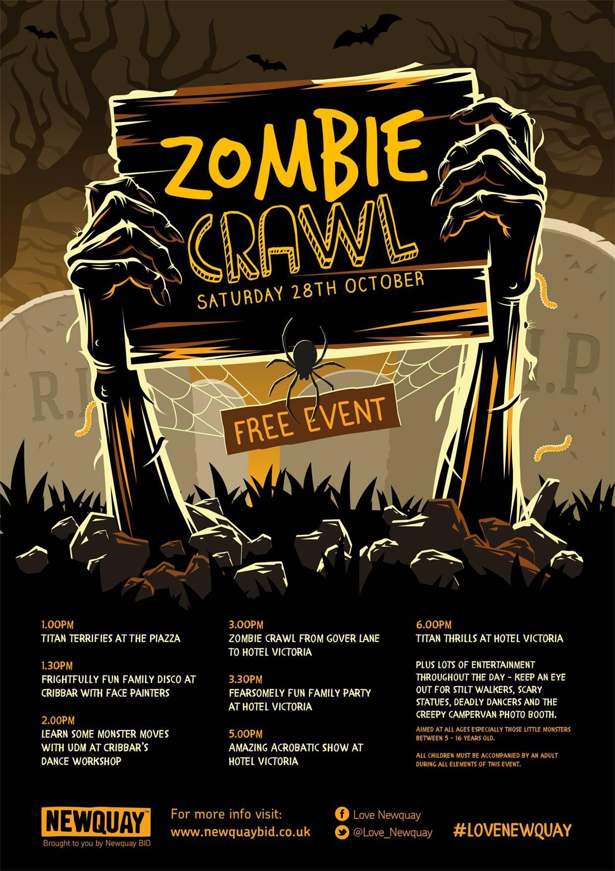 zombie crawl Newquay - 28th October 2017