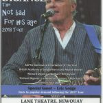 Richard Digance is due to perform at Newuay's Lane Theatre live on Thursday 24th May 2018