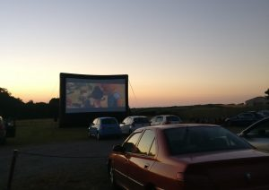 Outdoor cinema at Dairyland Farmworld near Newquay