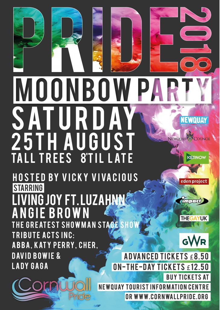 Cornwall Pride's Moonbow Party - Saturday 25th August