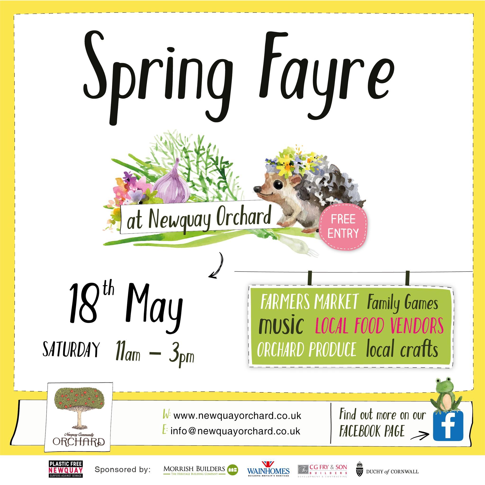 Spring Fayre May at Newquay Community Orchard